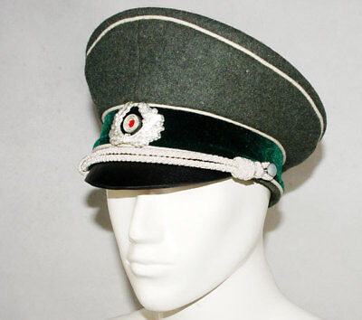 WW2 GERMAN WH M36 OFFICER WOOL CRUSHER CAP - Crusher Kostüm