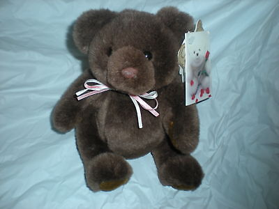 Baby Jointed Bear Plush 1512 Tad Pink Bow 1990
