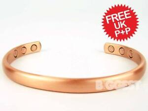 ★Mens Slim Magnetic Copper Bracelet 6 Magnets Therapy★