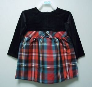 HEALTHTEX-Girls-Black-Red-Green-White-Gold-Dress-Outfit-24-Months-NEW