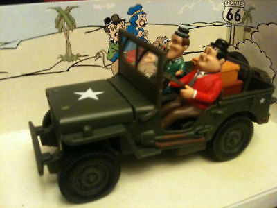 Laurel & Hardy Army Usa Jeep Willys Wwii Military 1:32 Boxed Unopened Mint