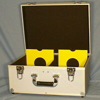 7 Inch Record Flight Case In Silver / Holds 200 45's