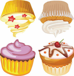 Girls Cupcake Removable Wall Art Home Decor Stickers