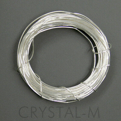 3 Meter Silberdraht 925erSilber; Strickdraht; 0,25mm