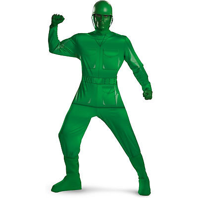 Adult Toy Story Green Army Soldier Man Deluxe Costume