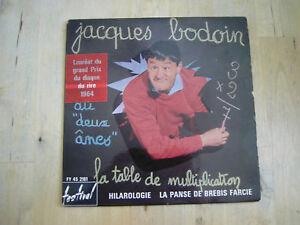 45 tours jacques bodoin au deux anes - Jacques bodoin la table de multiplication ...