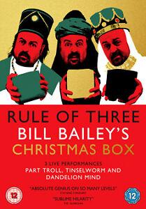 Bill Bailey  Rule of Three 3DVD BoxSet PART TROLL TINSELWORM DANDELION MIND - <span itemprop=availableAtOrFrom>London, United Kingdom</span> - Bill Bailey  Rule of Three 3DVD BoxSet PART TROLL TINSELWORM DANDELION MIND - London, United Kingdom