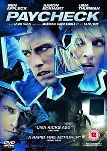 Paycheck (DVD, 2006) Ben Affleck. Aaaron Eckhart. Uma Therman.