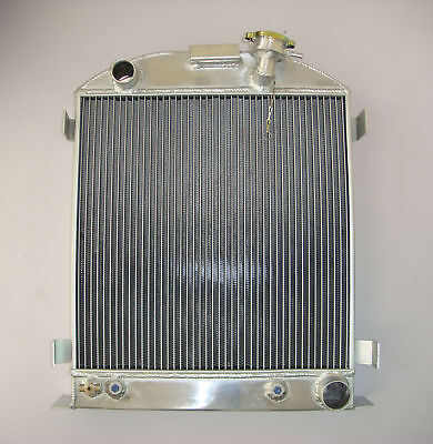ALL ALUMINUM RADIATOR FORD Model 1937 1938 CHEVY V8 Engine 3 ROW Stock Height