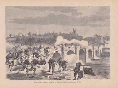 Gefecht bei Rioz und Étuz HOLZSTICH von 1871