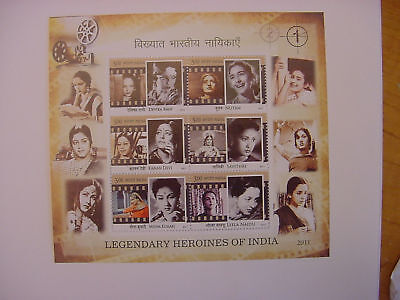 Stamps India   Miniature Sheet  Legendary Heroines Of India    2011   6 Stamps