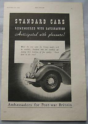 1944 Standard Cars Original advert No.3