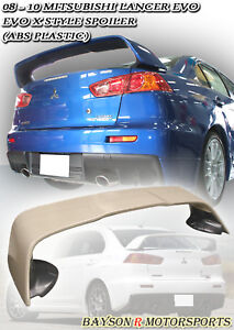 08-12 EVO 10 X MR Style Rear Trunk Spoiler Wing (ABS)