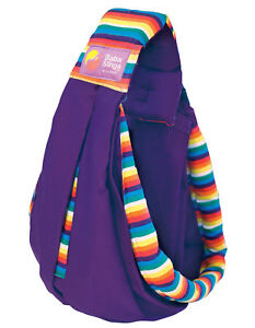 Baba Sling Baby Carrier Boutique Purple Rainbow Stripes