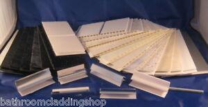 Sample Pack of PVC bathroom Cladding Interior Wall Panels Waterproof Decor Panel