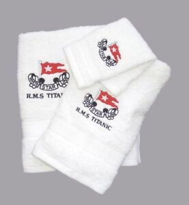 RMS/Titanic/Towel/Harland and Wolff/Set/Belfast/Ireland/New