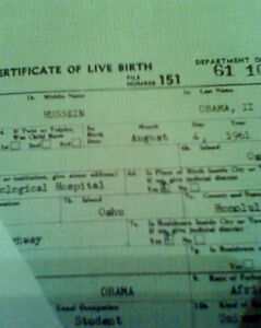 PRESIDENT BARACK HUSSEIN OBAMA II BIRTH CERTIFICATE LONG POLITICAL COLLECTIBLES