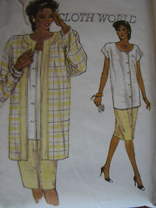 Amazing-VTG-86-VOGUE-9553-Misses-Jacket-Top-Skirt-PATTERN-8-10-12-Perfect
