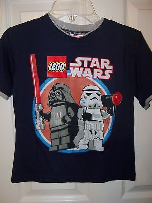 Lego Star Wars Clone Navy Short Sleeve Shirt Boys Size 4 110