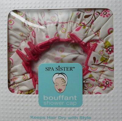 Spa Sister Stylish Bouffant Shower Cap Flower Print