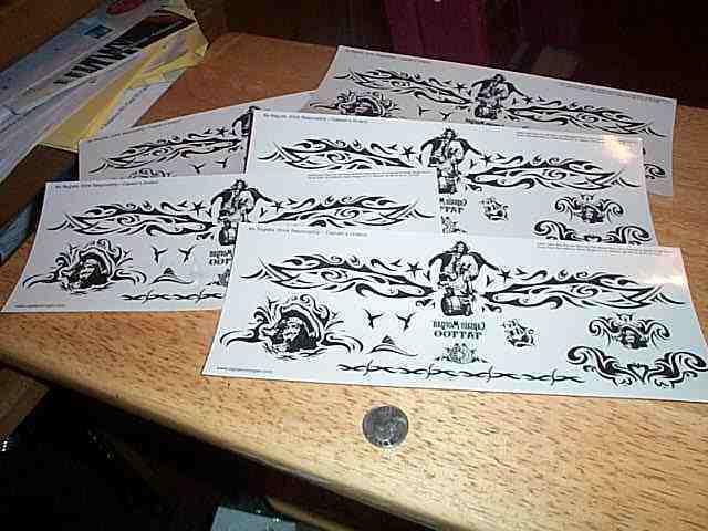 Captain Morgan 5 large sheets Temporary tattoos
