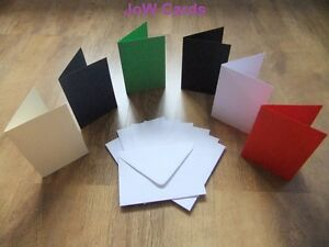 Pack-of-50-Christmas-A6-Card-Blanks-White-Envelopes
