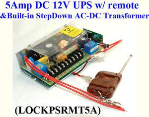 Door-wireless-remote-Access-Control-110V-220V-UPS-Power-Supply-12V-5A