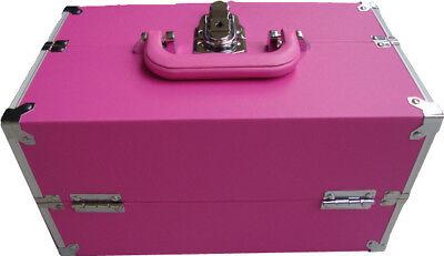PINK BEAUTY MAKE UP BOX NAIL TECHNICIAN VANITY CASE