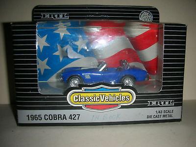 Vintage Ertl Classic Vehicles 1965 Cobra 427 - 1/43 Scale - Die Cast (b 13)