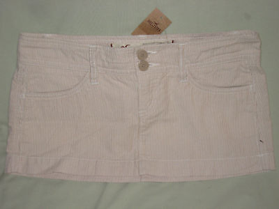 Hollister Co Khaki Pinstripe Mini Skirt Juniors 9