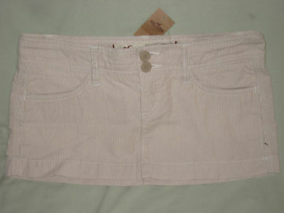 Hollister Co Khaki Pinstripe Mini Skirt Juniors 5