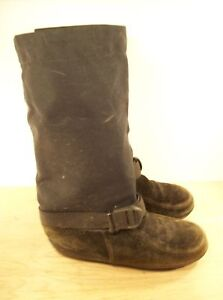 Vintage-Womens-STEGER-Mukluk-Traditional-Moosehide-Leather-Snow-Winter-Boots-6