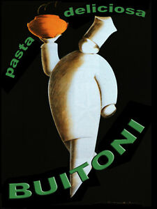 Vintage-POSTER-PASTA-Buitoni-Art-decor-Restaurant-Interior-design-87