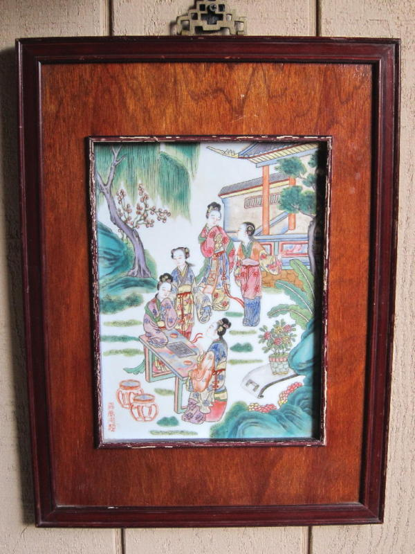 CHINESE PORCELAIN PLAQUE-JIAQING .SIGNED.1796-1820