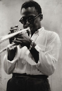 Miles Davis Poster, Jazz Musician Playing the Trumpet