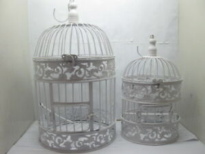 1Set-White-Flower-Luxury-Hanging-Bird-Cage
