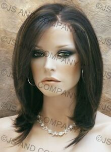 French-Lace-Front-Wig-Hi-Temp-Realistic-Brown-Mix-A7