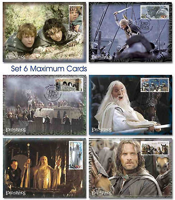 NEW ZEALAND LORD OF THE RINGS STAMPS TWO TOWERS 6 MAXI CARDS POSTCARDS HOBBIT on Rummage