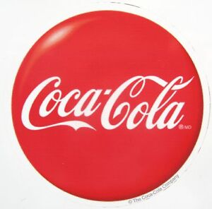 12 ~ Factory Made Quality Coca Cola Button Decals Coke Soda Stickers  1 3/4