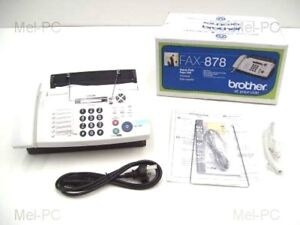 BROTHER FAX-878 PLAIN PAPER THERMAL FAX MACHINE NEW