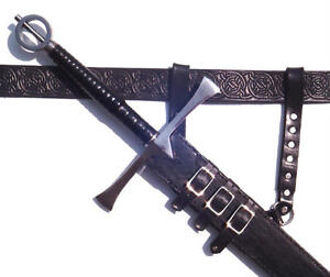 Black-Leather-Sword-Frog-SCA-LARP-armor-hanger-carrier