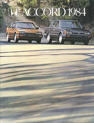 1984 HONDA ACCORD  Brochure / Catalog / Pamphlet : LX,