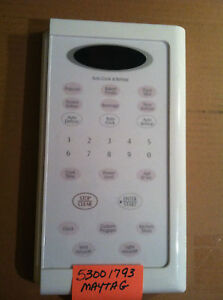 Details about USED 53001793 MAYTAG MICROWAVE TOUCH PAD WHITEUsed White Microwave