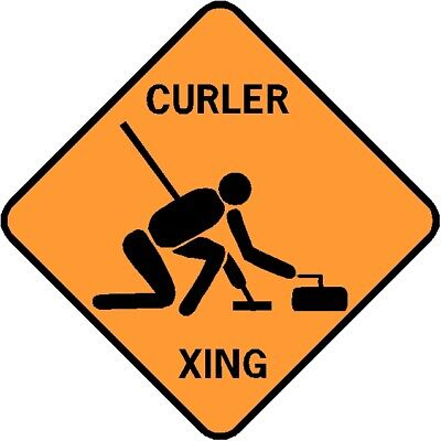 CURLER XING  Aluminum Curling Sign  Won't rust or fade