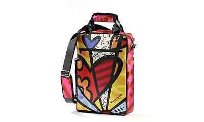 Romero Britto Hearts Signature Laptop Case Fits Ipad Or Any Small Tablet