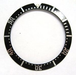 BEZEL INSERT FOR OMEGA SEAMASTER WATCH BLACK SWISS PART