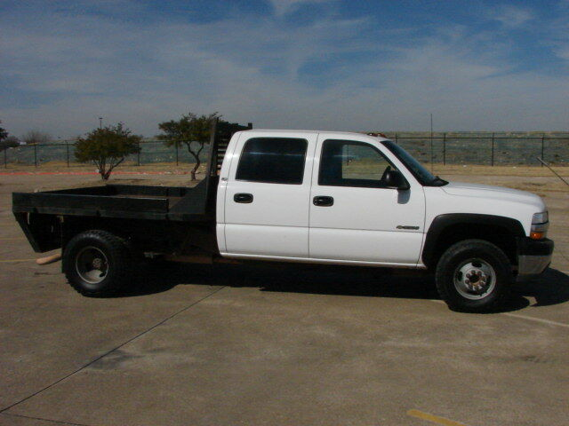 2001 Chevy Crewcab 1 Ton Dually 4X4 Flat Bed Truck LQQK