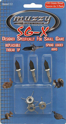 Muzzy Archery Bow 100 Grain Sg-x Small Game Point 3pk