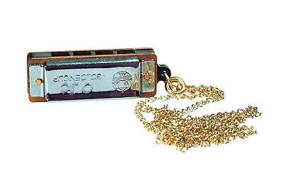 Mini Mundharmonika mit Kette und 8 Tönen UC080kw