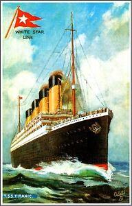 1912-Titanic-Ocean-Liner-Whtie-Star-Line-Art-Travel ...